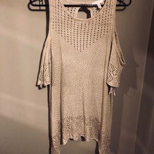 Lauren Conrad Cold Shoulder Knit Top